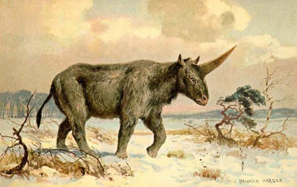 'Elasmotherium' (circa 1920) di Heinrich Harder.