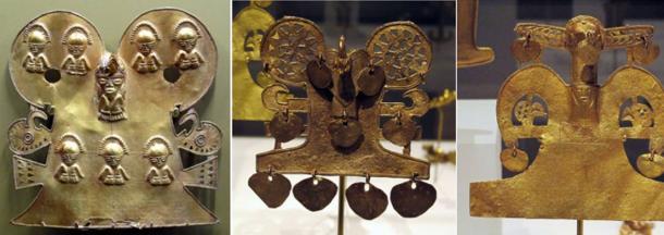 Manufatti d'oro della tribù Muisca di Colombia