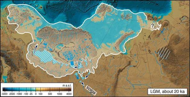 Extent Ice Age North America