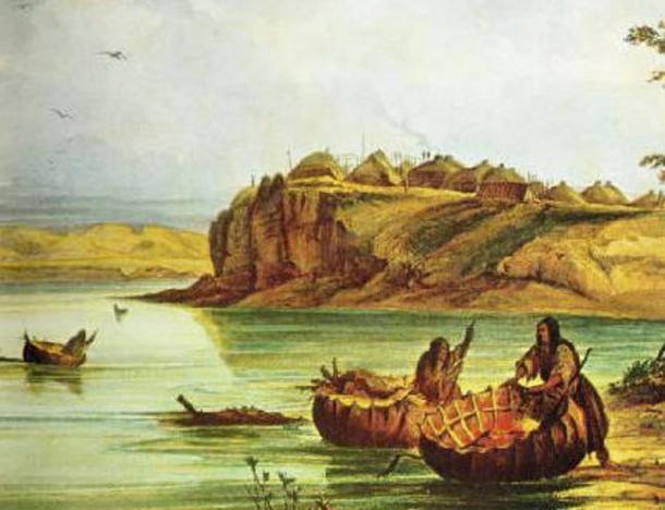 Mandan bull boat e lodge.  (