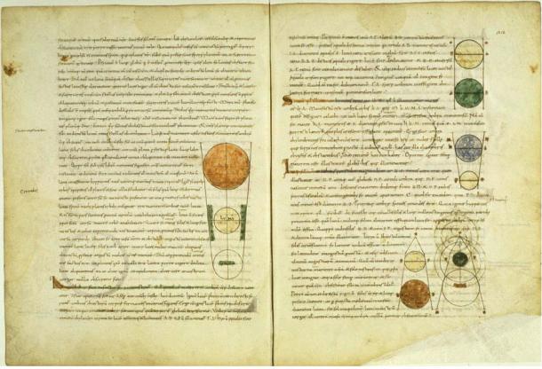 Manoscritto medievale di Timeas di Platone, traduzione latina.