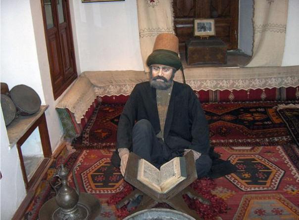 Modelo de un derviche estudiar.  Museo Mevlana;  Konya, Turquía.
