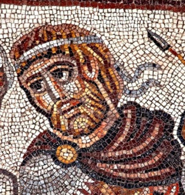 Mosaic of Alexander the Great, Huqoq, Galilee region, Israel