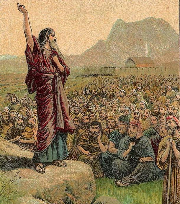 Mosè Pleading con Israele, come in Deuteronomio 6: 1-15.