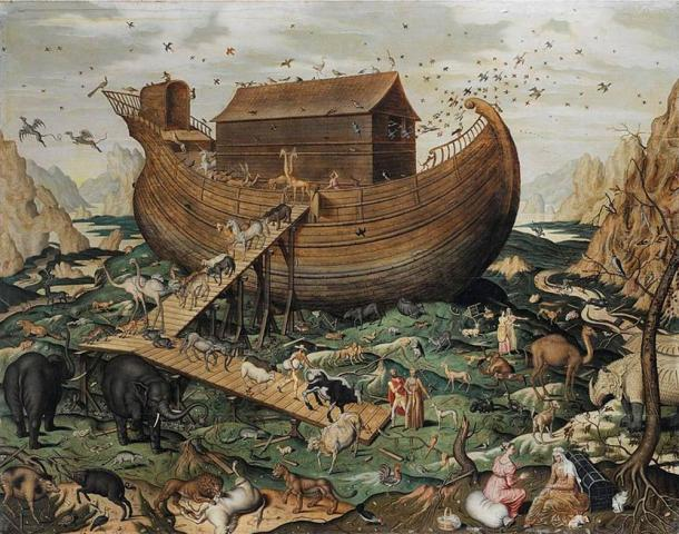 'Noah's ark on Mount Ararat' by Simon de Myle, 1570 AD.
