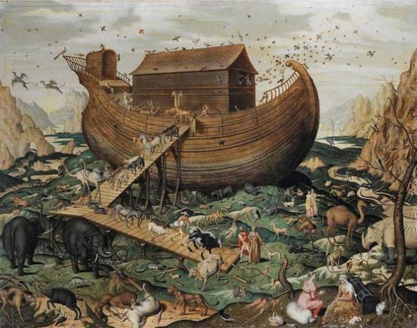 'Arca de Noé en el monte Ararat' por Simon de Myle, 1570 AD.