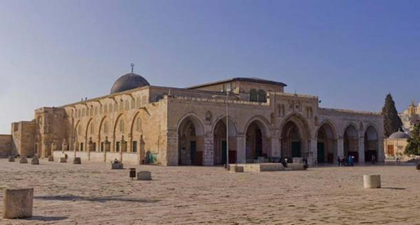 Northeast exposure of Al-Aqsa Mosque on the Temple Mount, in the Old City of Jerusalem. Considered to be the third holiest site in Islam after Mecca and Medina.