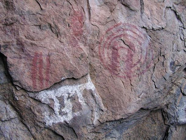 The paleolithic art of the rock, similar to the figurative art of the cave in the Balkans. (Eric00000007 / CC BY-SA 3.0)