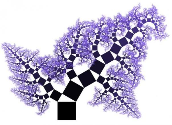 Un árbol de Pitágoras fractal