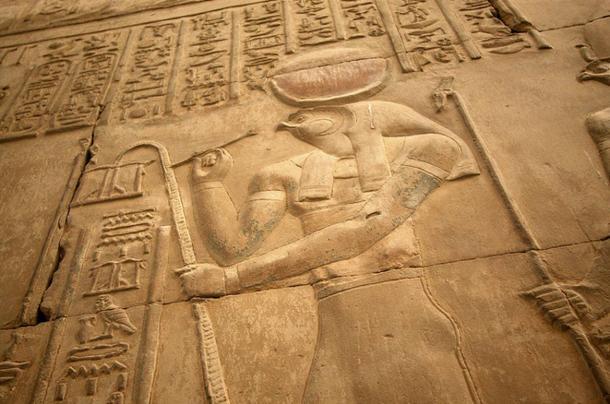 Rilievo di Horus, dio del sole, cielo, e regalità.