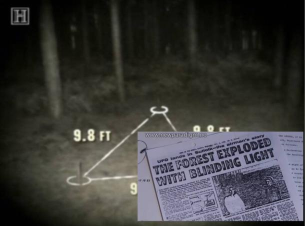 Rendlesham Forest UFO Incident, Suffolk UK
