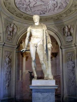 estatua romana de Pompeyo.  Ahora se encuentra en Villa Arconati un Castellazzo di Bollate (Milán, Italia).  Fue llevado allí desde Roma en 1627. Se dictó que Julio César fue muerto a los pies de la estatua, pero la investigación moderna revela que hay más a la historia.