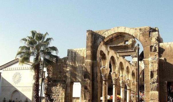 Las ruinas del templo romano de Damasco de Júpiter.
