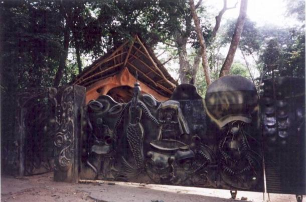 Tempio di Oshun nel Bosco Sacro