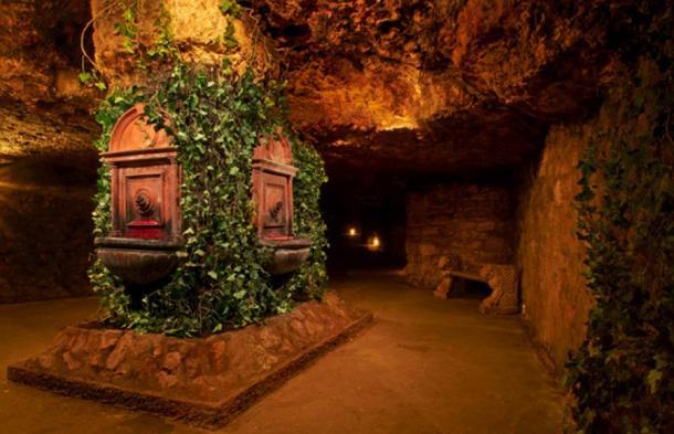 Le fontane di vino di Mátyás trovato in profondità all'interno del Labirinto di Buda.