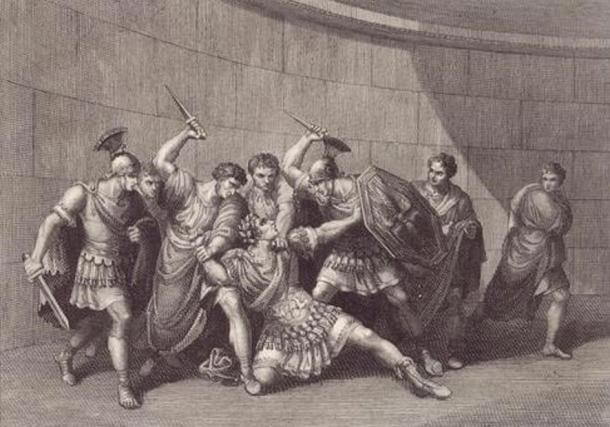 The assassination of Caligula.