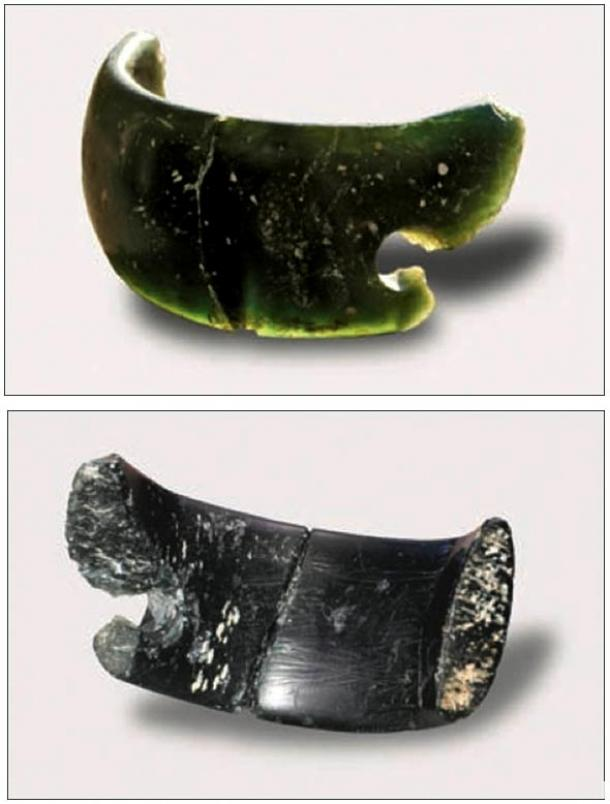 Made of chlorite, the bracelet was found in the same layer as the remains of some of the prehistoric people and is thought to belong to them.