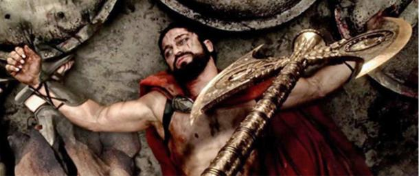The decapitation of Leonidas is portrayed in the fictionalized movie '300 Rise of an Empire'