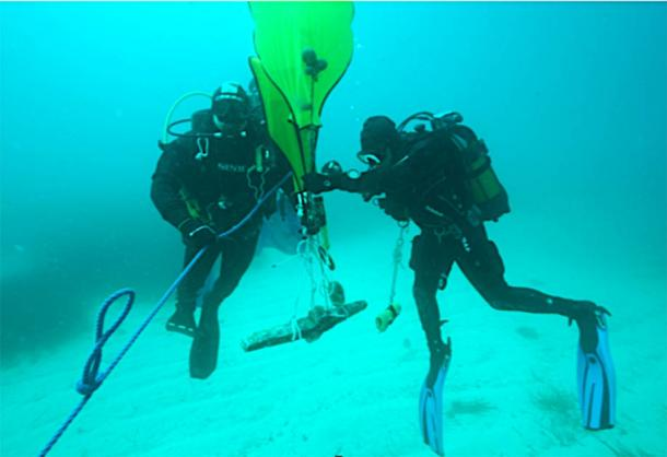 2300-year-old Anchor Devoted to Goddess of Love Hauled Up