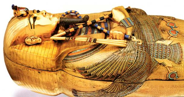 la bara d'oro di Tutankhamon.