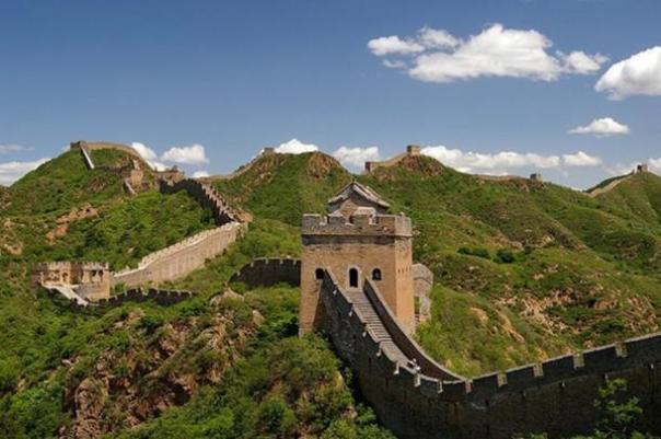 Una sección de la Gran Muralla de China cerca de Jinshanling