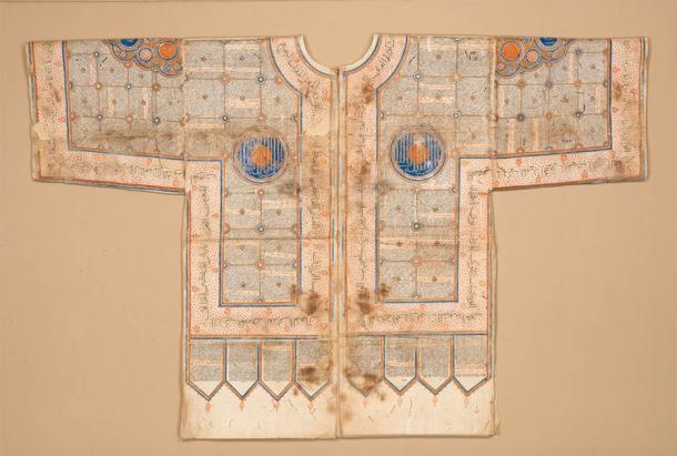 Une chemise talismanique fabriquée en Inde au 15e ou 16e siècle.  (Musée métropolitain d'art / domaine public)