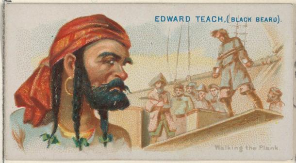 Blackbeard est mort jeune mais son nom vit dans les films et dans l'imagination de tant d'écrivains.  (Allen et Ginter / CC0)