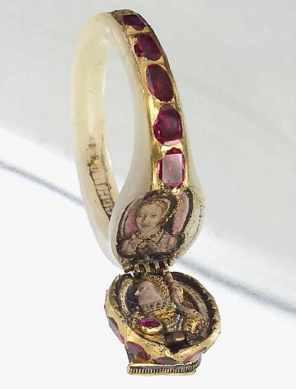 Un anello medaglione appartenuto immagine Inghilterra regina Elisabetta I. Representational a.