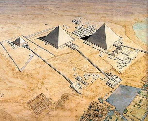 reconstruction of the pyramids of Giza causeways - Después de décadas de búsqueda, la Calzada de la Gran Pirámide de Egipto se ha encontrado