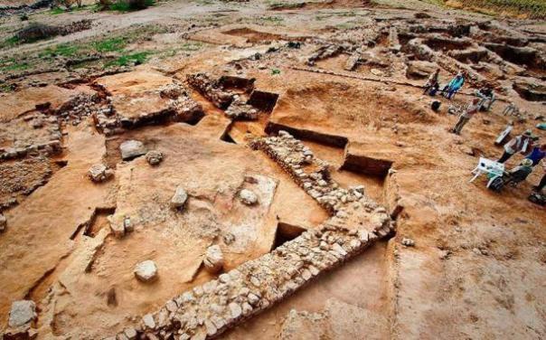 Algunas de las ruinas de Tall el-Hammam, donde los arqueólogos han estado excavando durante más de una década.