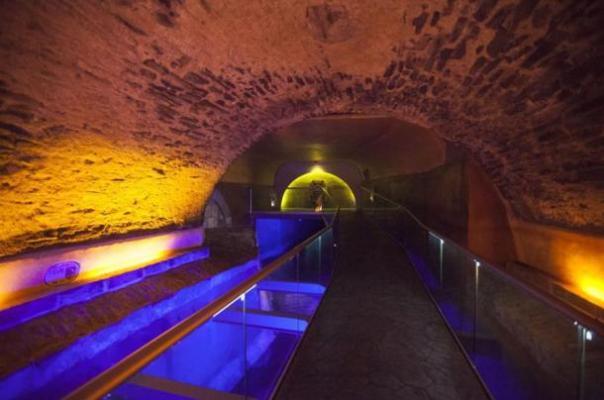 Durante la restauración de los investigadores túneles subterráneos también encontrado los antiguos restos del Puente de Bubas, una estructura bridgelike del siglo 17 que fue utilizado para cruzar el río San Francisco, que fue la principal fuente de agua para la ciudad en esa época.