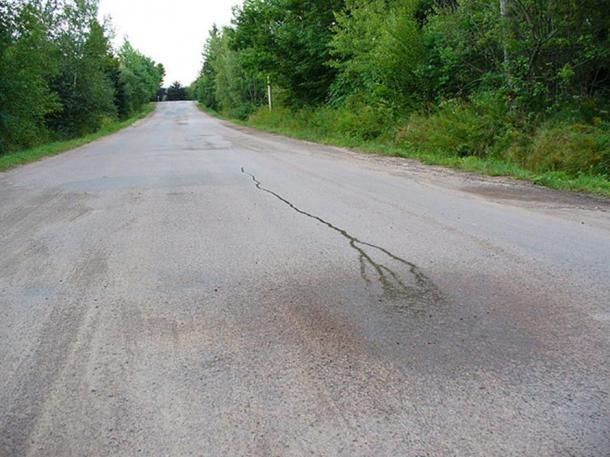 """Versò l'acqua corrente """"in salita"""", questa foto è di un sito del patrimonio culturale in Canada."""