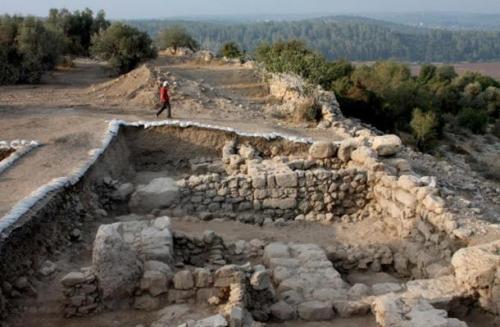 The western gate of Khirbet Qeiyafais
