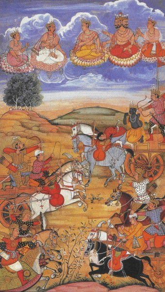 Arjuna During the Battle of Kurukshetra