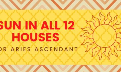 SUN IN ALL 12 HOUSES FOR Aries Ascendant