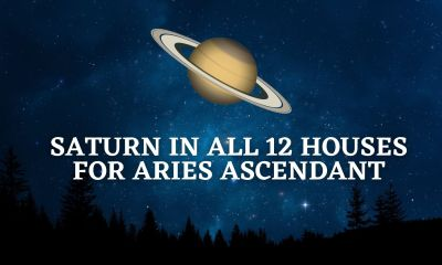 Saturn in all 12 houses for Aries Ascendant