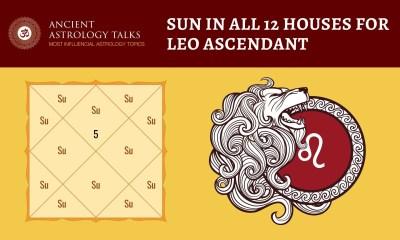 Sun in all 12 houses for Leo Ascendant