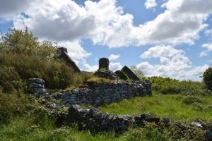 Visit Ireland and see Old ruin in The Burren