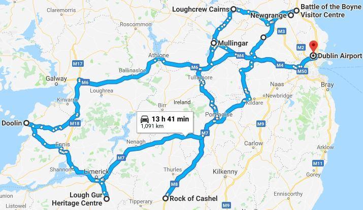 The Heartlands Tour Map
