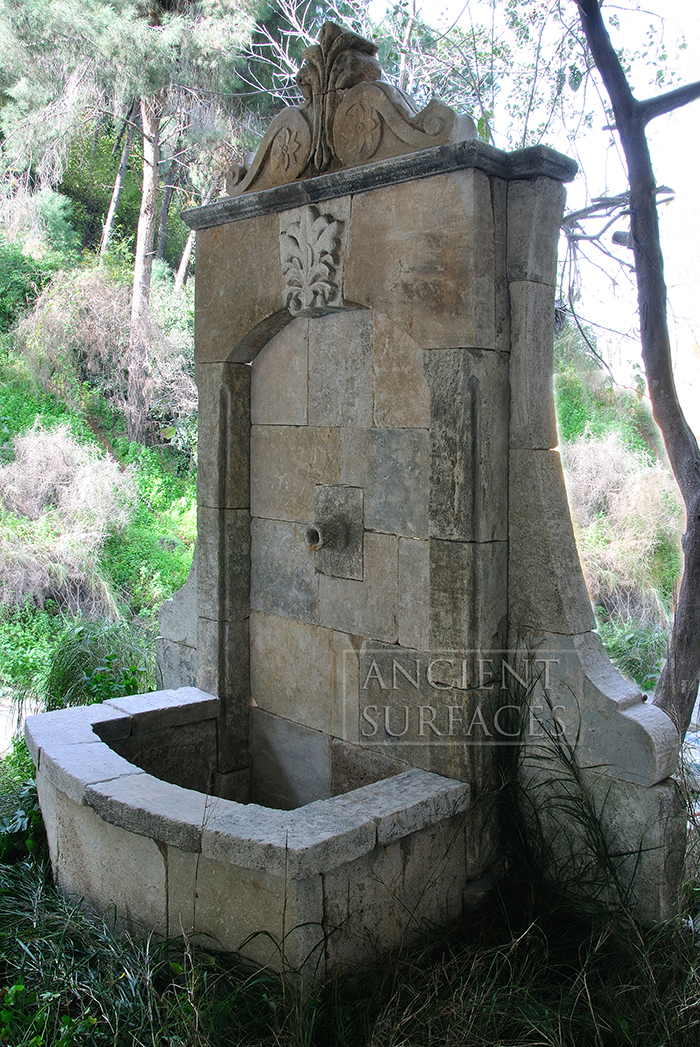 Page Two of our Antique reclaimed Limestone Water Wall ... on Backyard Feature Walls  id=85672