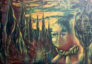 Tramonto e povertà (1968) by Francesca Ghizzardi
