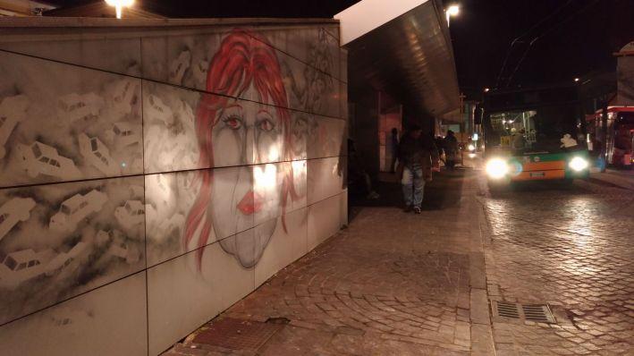 Hopnn wallpainting Piazza Ugo Bassi