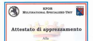 """ANC """"Roma1"""" per KFOR"""