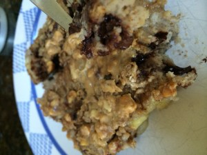 Major Crowd Pleasing Peanut Butter Banana and chocolate Chip Baked Oatmeal