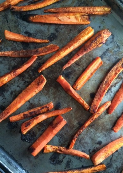 Spiced Maple Roasted Carrots [Clean, Vegan, Lower Carb, Gluten Free] Roasted ...And A Dash of Cinnamon