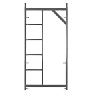 painel de andaime fachadeiro com escada