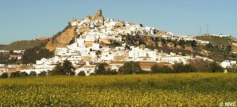 In the heart of Cadiz, the white village of Arcos de la Frontera