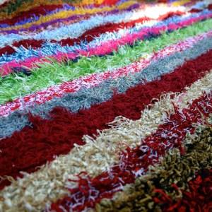 Fluffy rug close up