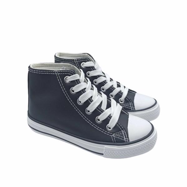 Zapatillas altas cuero sintético con cordones