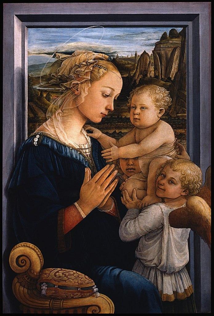 Fra Filippo Lippi-Madonna con el Niño y dos ángeles (ca. 1465)